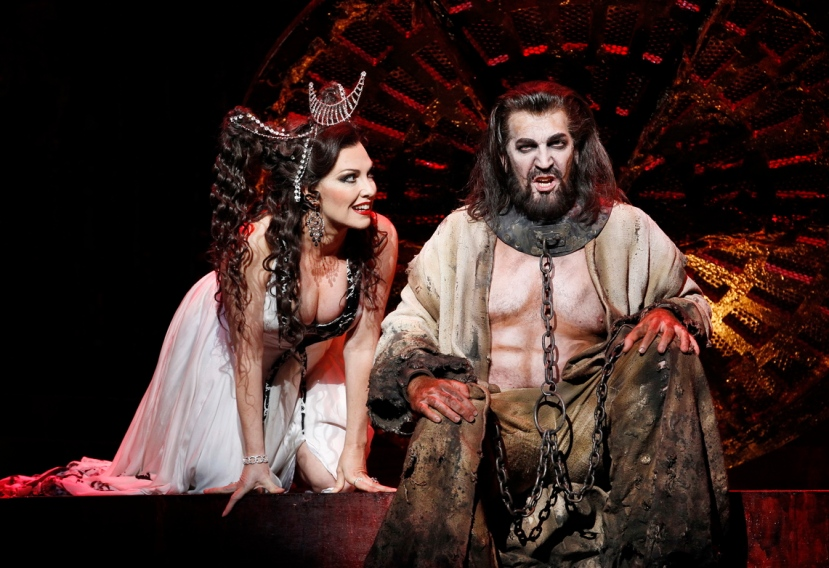 Cheryl Barker as Salome, Thomas Hall as Jokanaan, Opera Australia SALOME