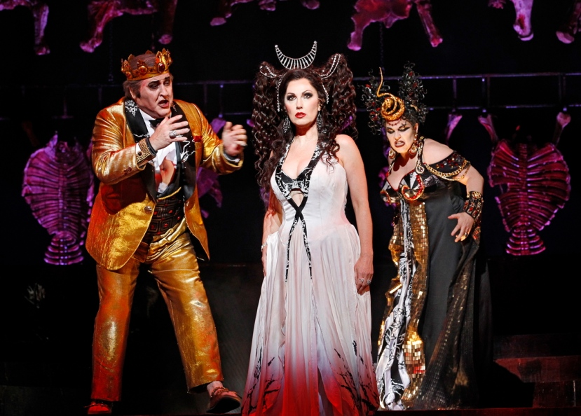 John Pickering as Herod, Cheryl Barker as Salome, Jacqueline Dark as Herodias Opera Australia's SALOME