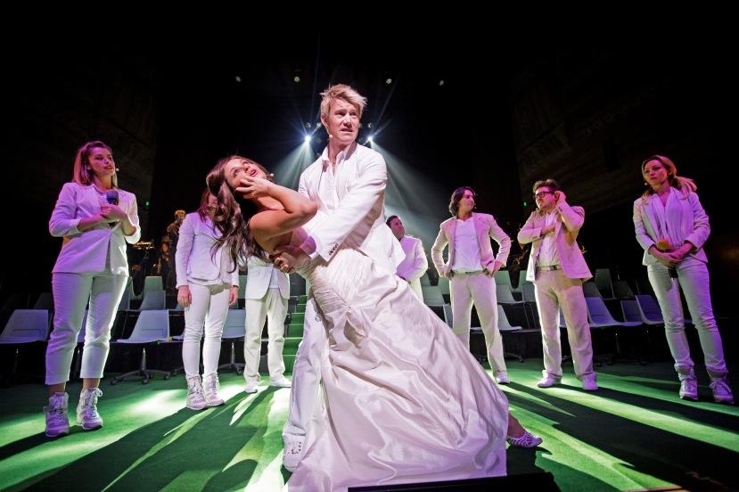 Shane Warne the Musical Hamer Hall Melbourne 2013 Eddie Perfect, Christie Whelan