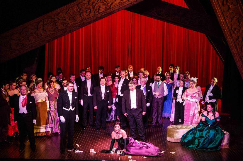 Melbourne Opera La Traviata 2013 Roy Best, Antoinette Halloran, Caroline Vercoe and Company