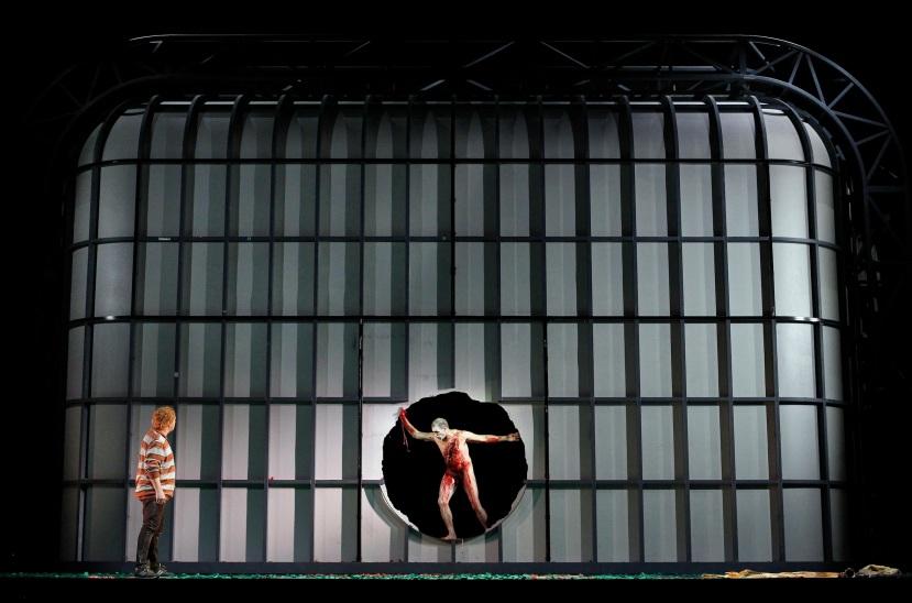 Melbourne Ring Cycle, Opera Australia 2013 Siegfried, Siegfreid kills the dragon