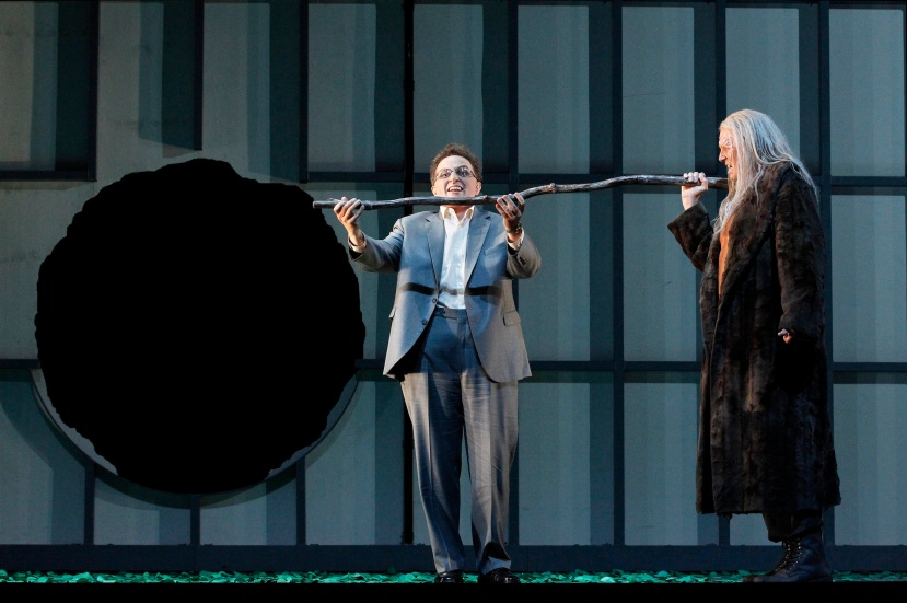 Melbourne Ring Cycle, Opera Australia 2013 Siegfried, Warwick Fyfe as Alberich, Wotan