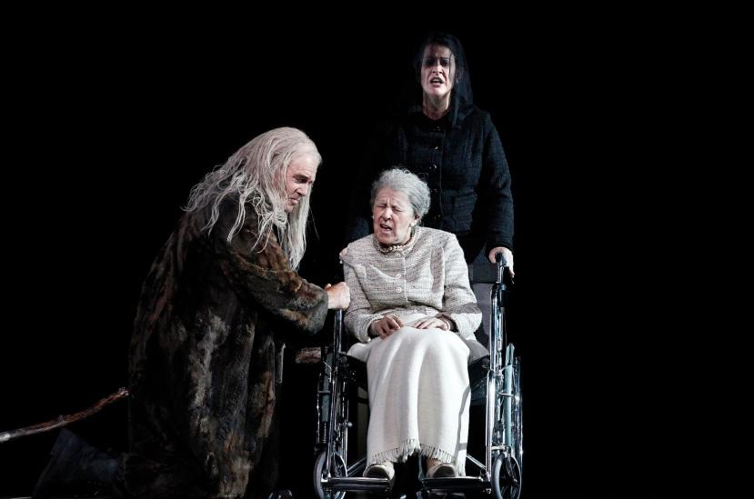 Melbourne Ring Cycle, Opera Australia 2013 Siegfried, Wotan with Deborah Humble as Erda