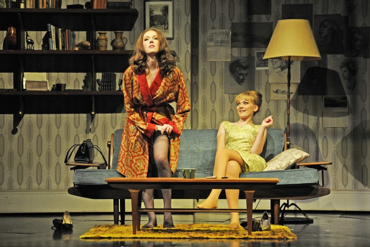 Stephen Ward musical, Charlotte Spencer as Christine Keeler and Charlotte Blackledge as Mandy Rice-Davies