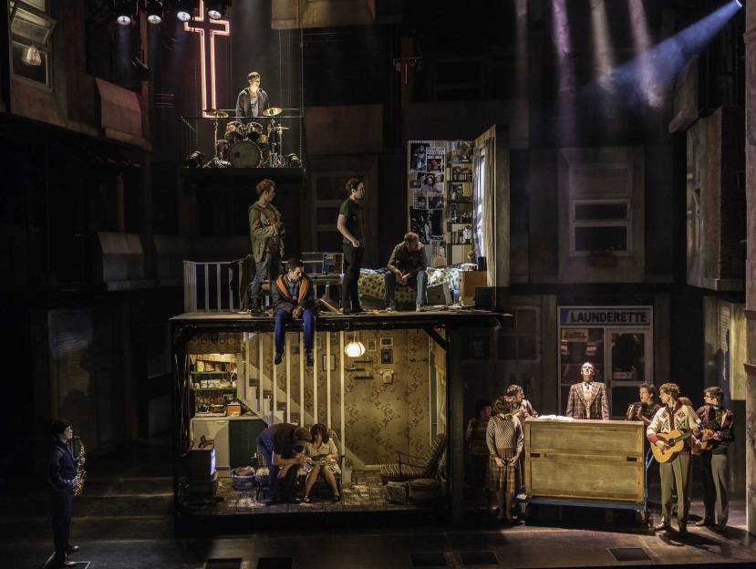 The Commitments musical, Palace Theatre, London, scenic design