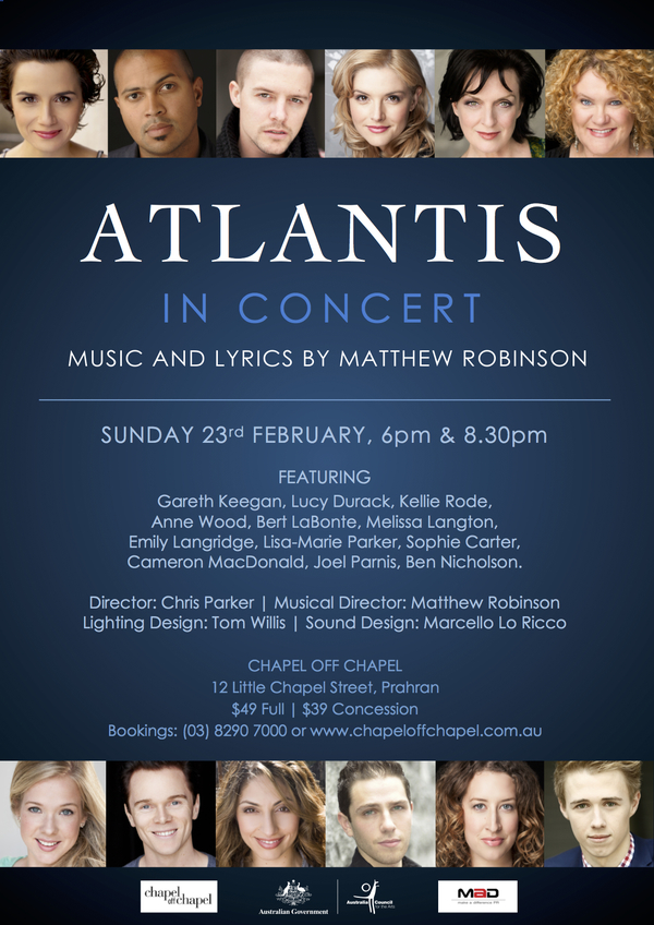Atlantis in concert poster