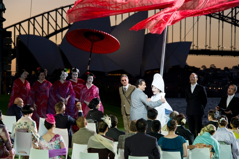 Madama Butterfly, Handa Opera Sydney Harbour 2014, Georgy Vasiliev as Pinkerton, Hiromi Omura