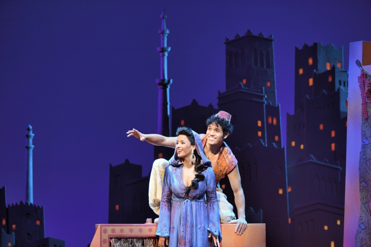 Aladdin Broadway, Courtney Reed, Adam Jacobs