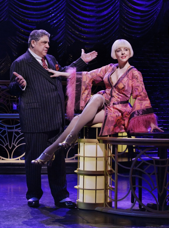 Bullets over Broadway the musical, Vincent Pastore, Helene Yorke