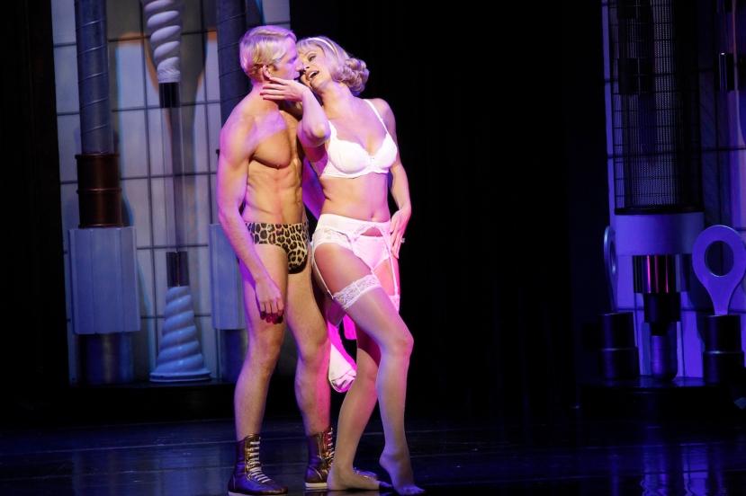 Rocky Horror Show 2014 Brendan Irving shirtless, Christie Whelan-Browne underwear