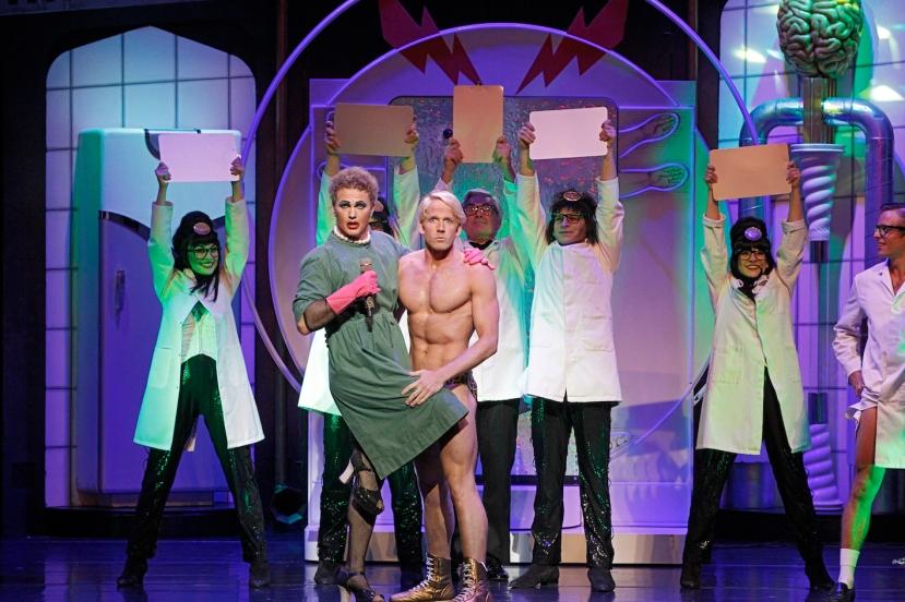 Rocky Horror Show 2014 Craig McLachlan, Brendan Irving shirtless