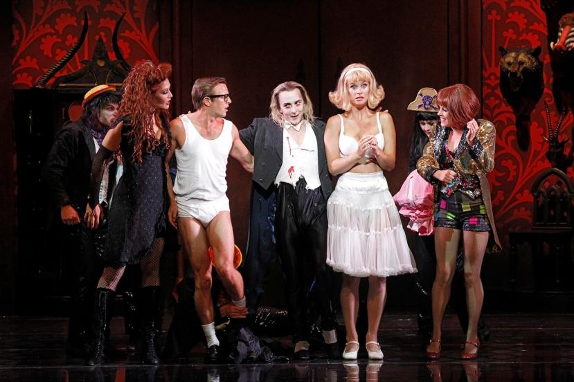 Rocky Horror Show 2014 Erika Heynatz, Tim Maddren, Kristian Lavercombe, Christie Whelan-Browne, Ashlea Pyke