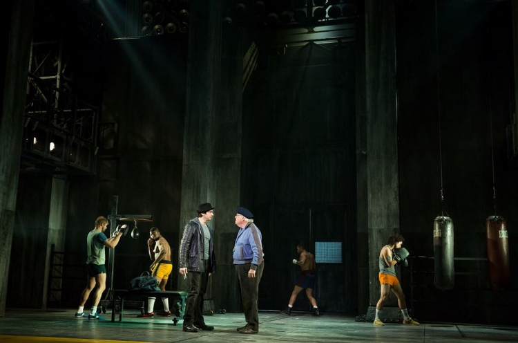Rocky musical Broadway, gym scene