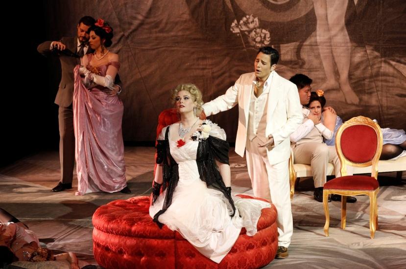 La traviata 2014 Victorian Opera, Jessica Pratt as Violetta, Alessandro Scotto di Luzio as Alfredo