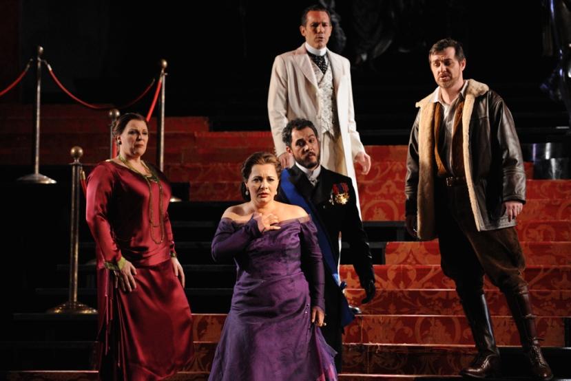 Opera Australia_Otello_2014_Jacqueline Dark, Lianna Haroutounian, Pelham Andrews, David Corcoran, James Egglestone