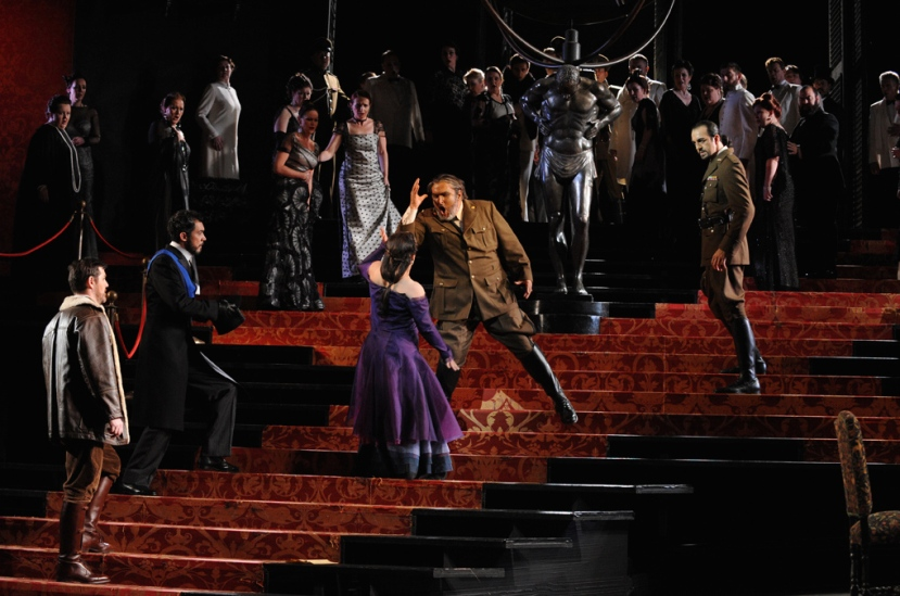 Opera Australia_Otello_2014_James Egglestone, Pelham Andrews, Lianna Haroutounian, Simon O'Neill, Claudio Sgura, chorus