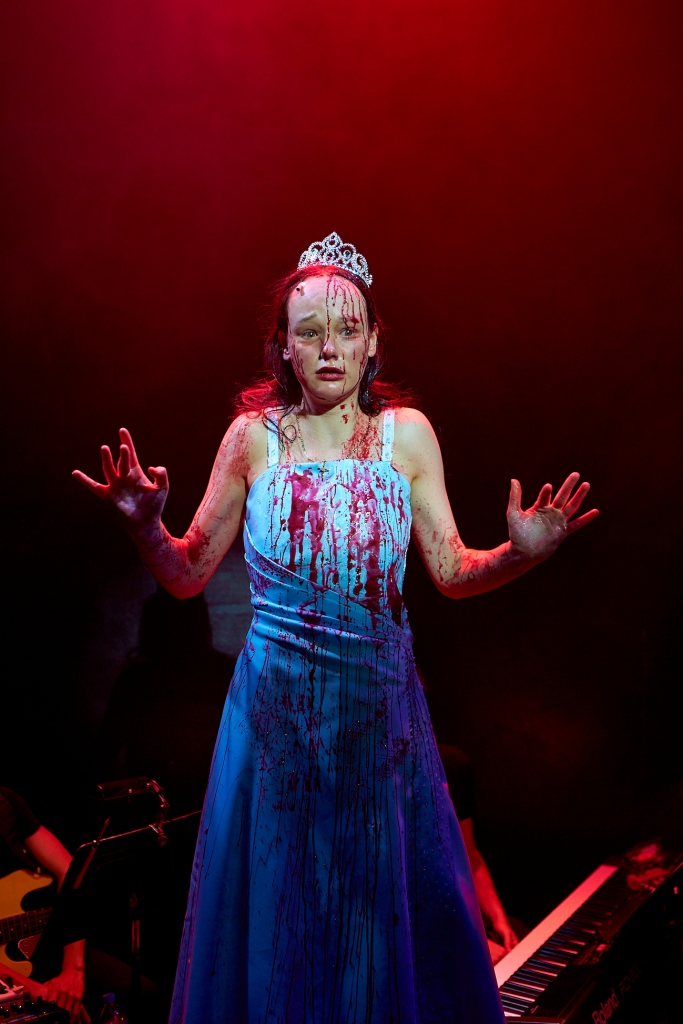 Carrie the musical 2014 Melbourne, Emily Milledge, Carrie drenched in blood