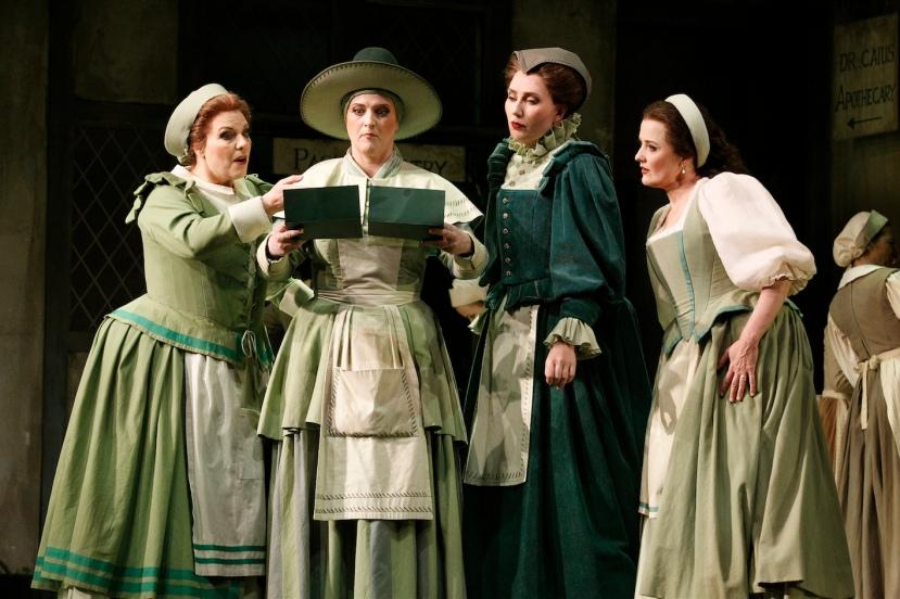 Falstaff 2014 Opera Australia, Jacqueline Dark, Dominica Matthews, Jane Ede, Taryn Fiebig