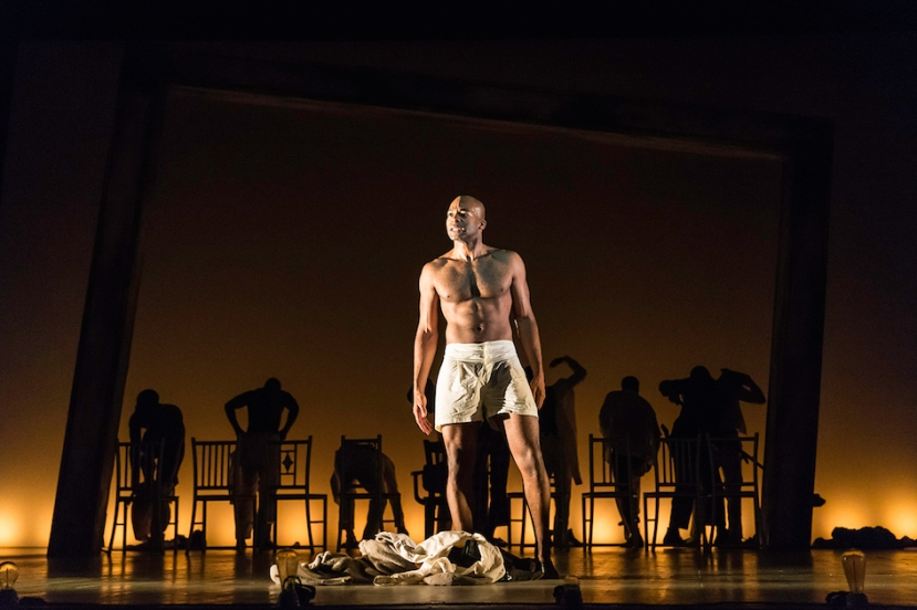 The Scottsboro Boys, London, Brandon Victor Dixon shirtless
