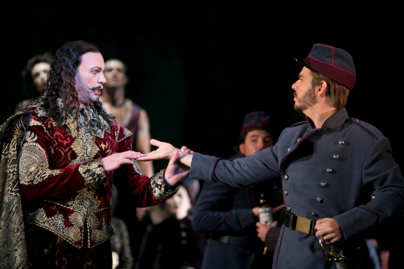 Faust Opera Australia, Teddy Tahu Rhodes (Mephistopheles) & Giorgio Caoduro (Valentin)