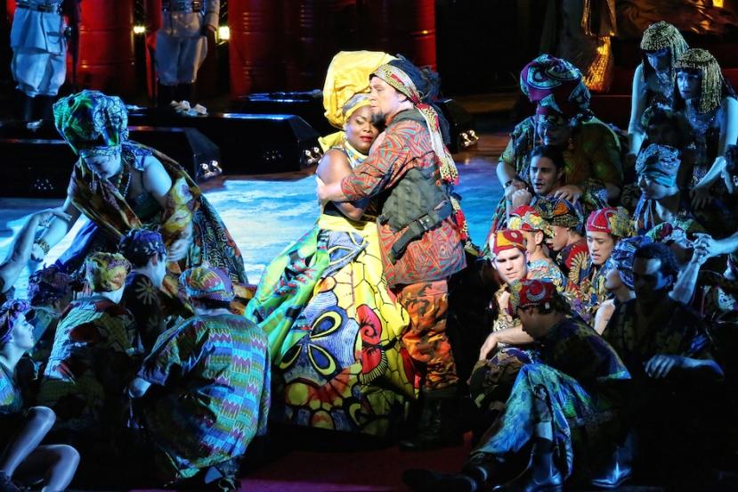 Aida 2015 Handa Opera on Sydney Harbour, Latonia Moore, Michael Honeyman
