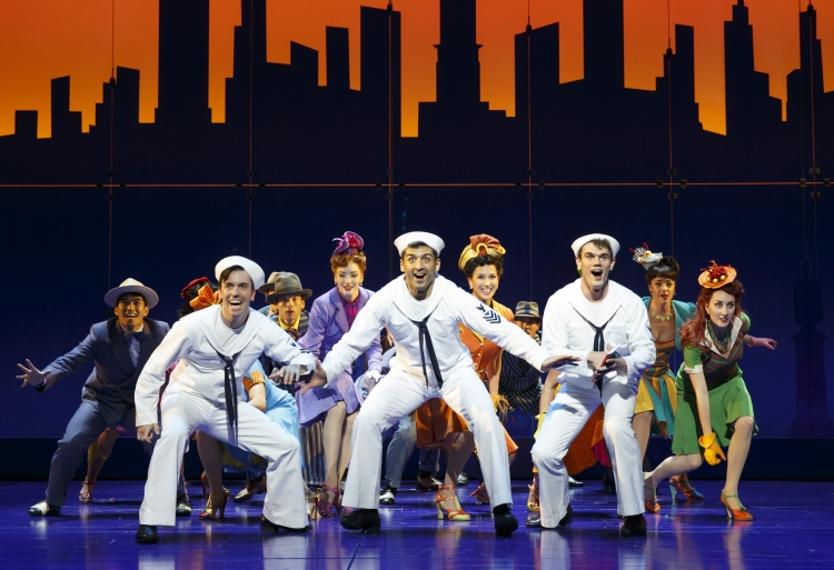 On The Town Broadway 2015 jay armstrong johnson, tony yazbeck, clyde alves