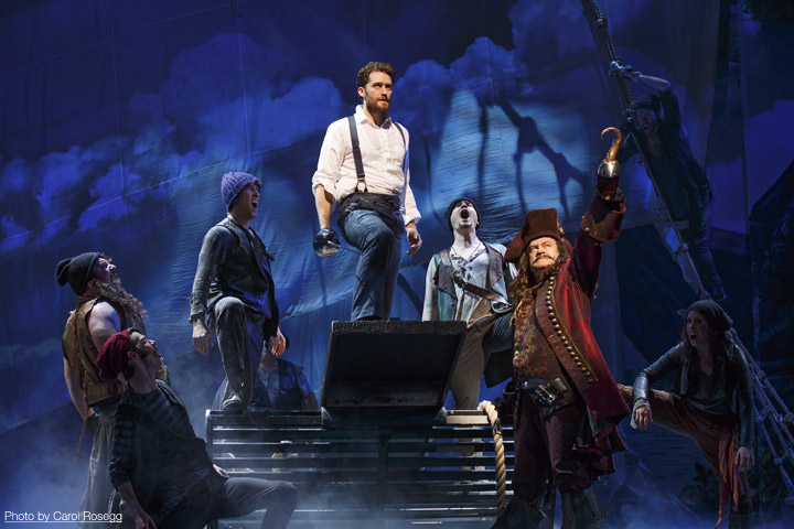 Finding Neverland Broadway, Matthew Morrison, Kelsey Grammer as Captain-Hook