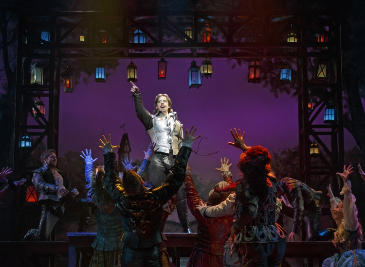 Something Rotten, Christina Borle as Shakespeare
