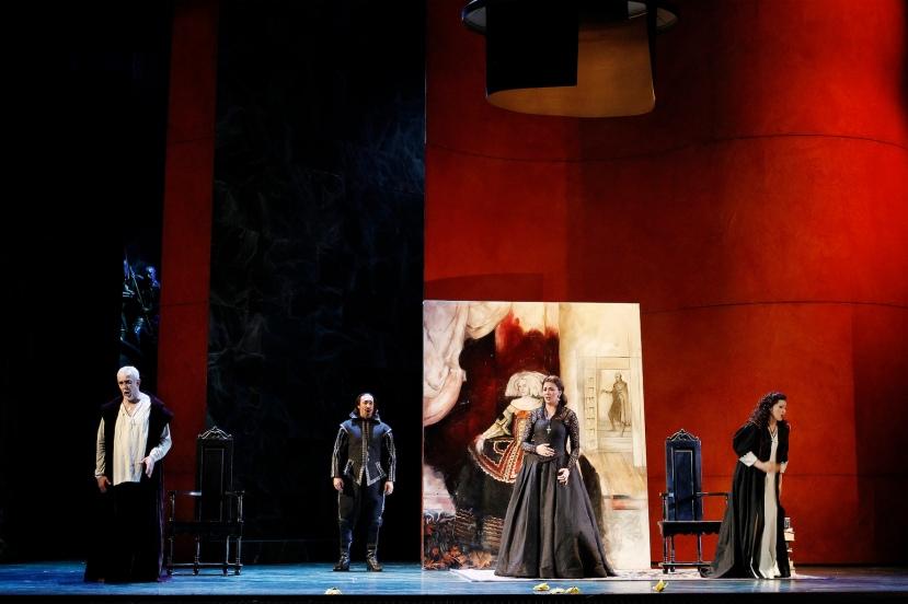 Opera Australia 2015 DON CARLOS, Giacomo Prestia, Jose Carbo, Milijana Nikolic, Victoria Yastrebova