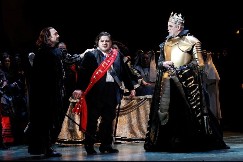 Opera Australia 2015 DON CARLOS, Jose Carbo, DIego Torre, Giacomo Prestia