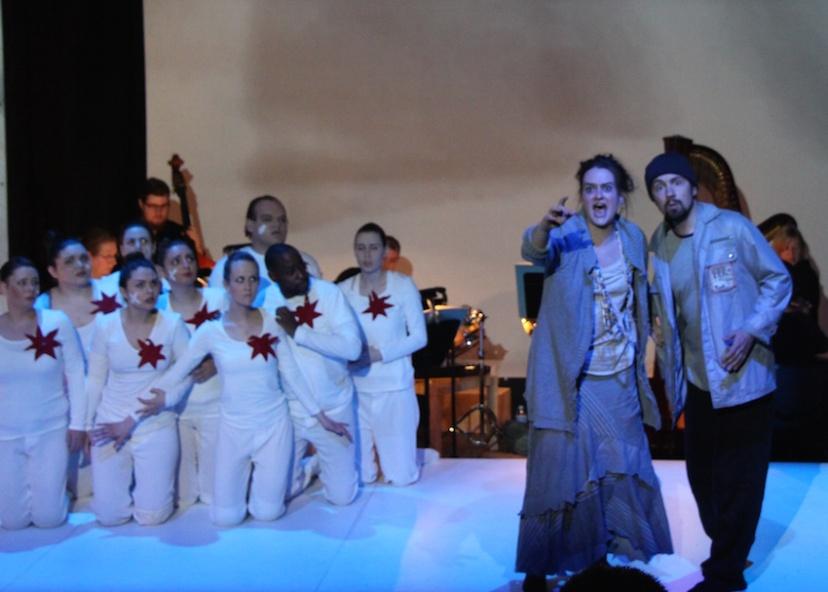 Curlew River Gertrude Opera, Agathe de Courcy, Owain Browne