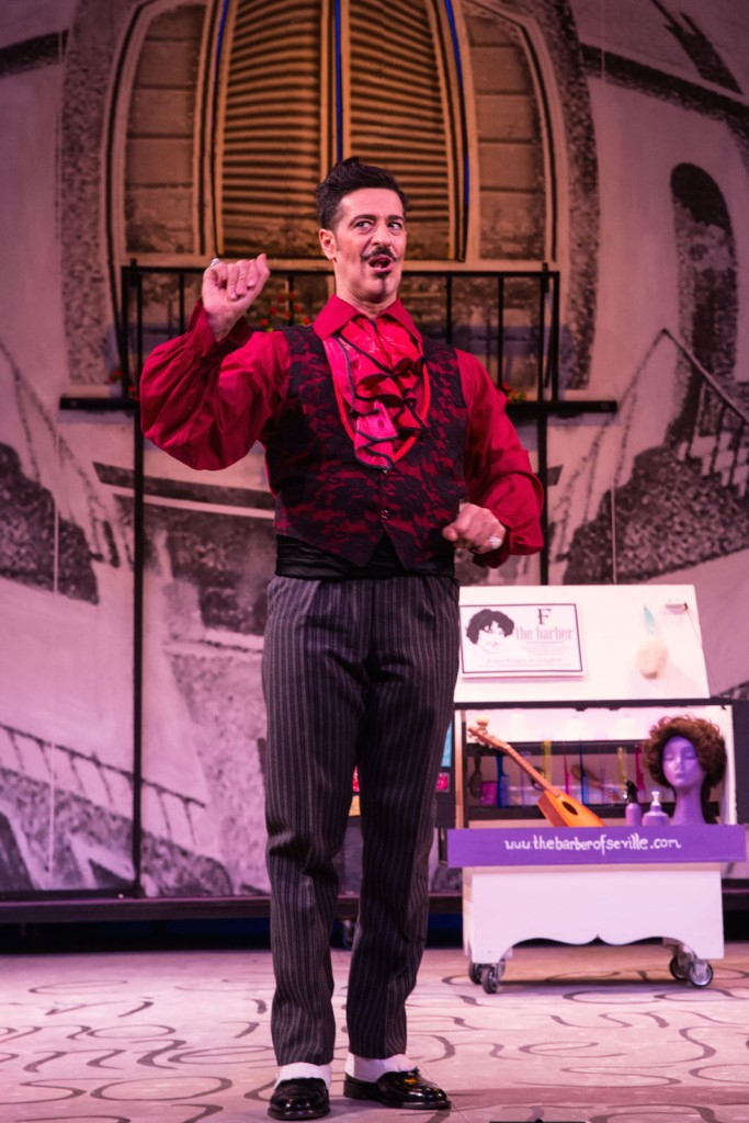 The Barber of Seville 2015 Melbourne Opera, Phillip Calcagno as Figaro