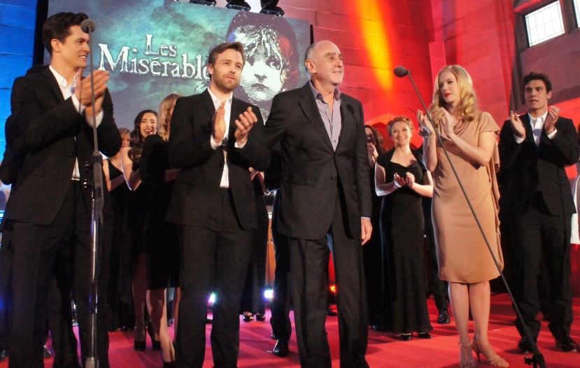 Les Miserables launch, Simon Gleeson, Claude-Michel Schoenberg