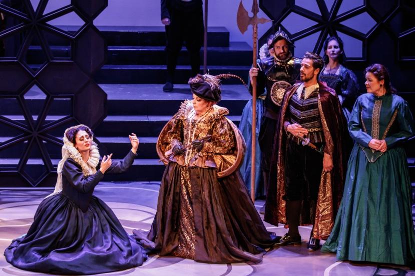 Mary Stuart, Melbourne Opera, Elena Xanthoudakis, Rosamund Illing, Phillip Calcagno, Caroline Vercoe