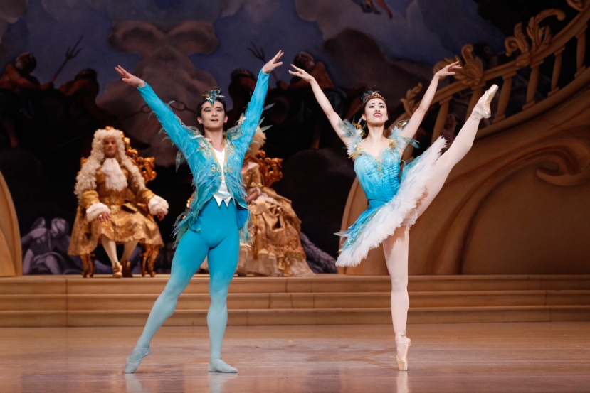 The Sleeping Beauty 2015 The Australian Ballet, Chengwu Guo as Bluebird, Ako Kondo as Florine