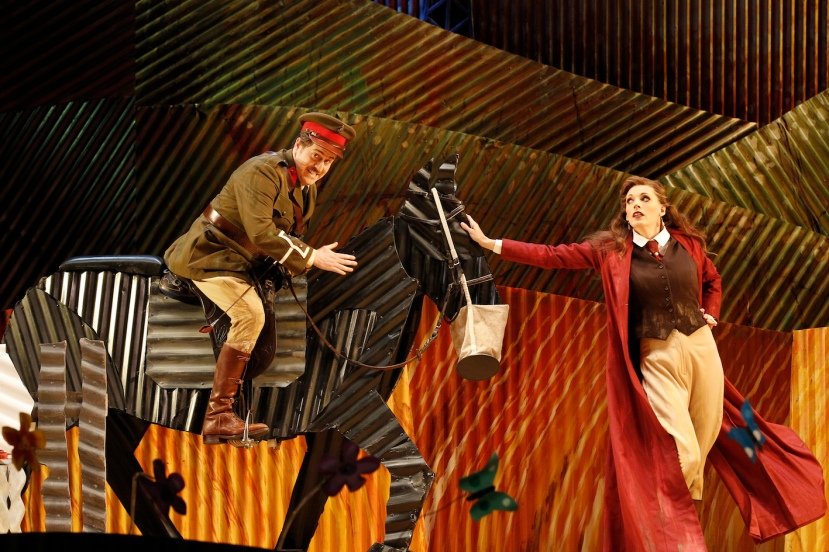 The Elixir of Love 2015 Opera Australia, Christopher Hillier, Rachelle Durkin
