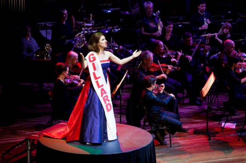 Victorian Opera 2015 - Seven Deadly Sins, Cristina Russo as Julia Gillard