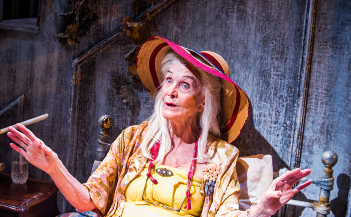 Grey Gardens 2016 Southwark Playhouse, Sheila Hancock as Big Edie