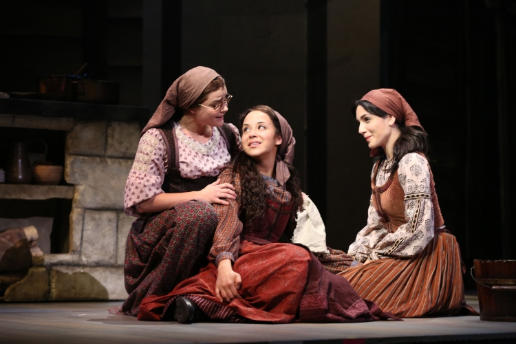 Fiddler on the Roof, Broadway, Melanie Moore, Alexandra Silber, Samantha Massell