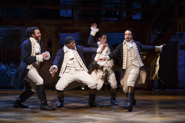 Hamilton, Broadway, Daveed Diggs, Okieriete Onaodowan, Anthony Ramos, Lin-Manuel Miranda