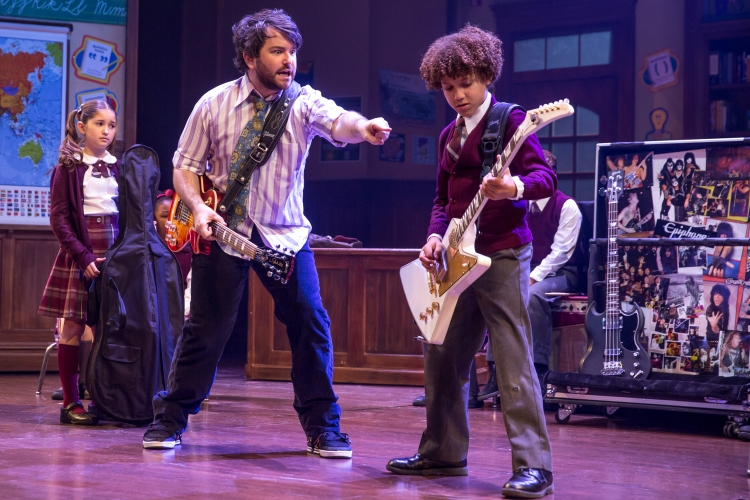 School of Rock the musical, evie_dolan_alex_brightman_and_brandon_niederauer