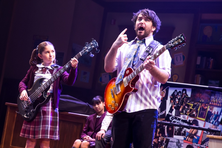 School of Rock the musical, evie_dolan_and_alex_brightman