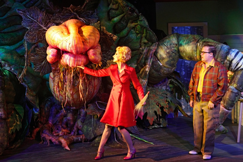 LITTLE SHOP OF HORRORS 2016 Audrey II,-Esther-Hannaford,-Brent-Hill