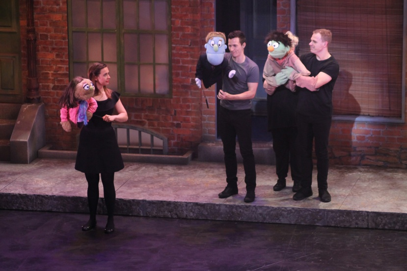 Avenue Q 2016 Melbourne, Sophie Wright, Ross Hannaford, Vincent Hooper