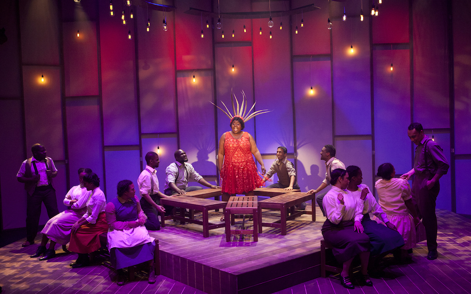 Stageart The Color Purple Review Simon Parris Man In Chair