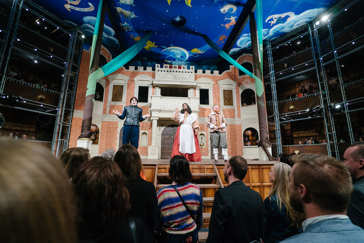 pop up globe as you like it review simon parris man in chair